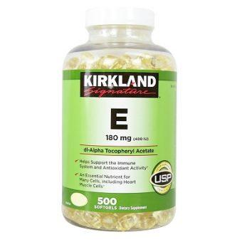 (Vitamin E 400IU Kirkland mẫu mới)
