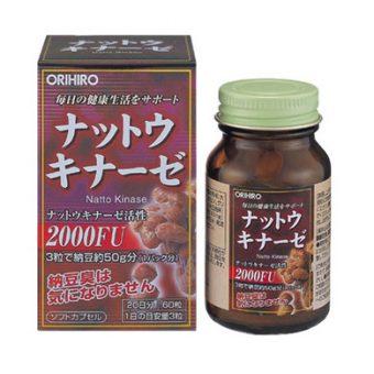 (Viên uống chống đột quỵ Natto Kinase 2000FU Orihiro 60v Nhật Bản)