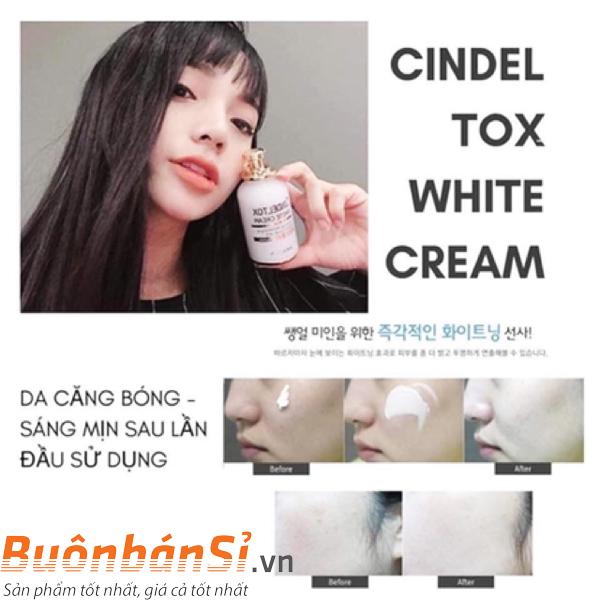 Kem Dưỡng Trắng Da Cindel Tox White Cream có tốt không