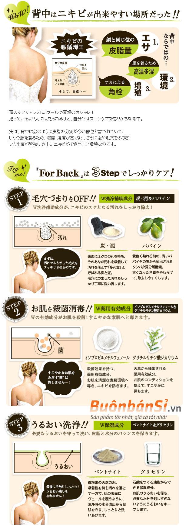review xà phòng trị mụn lưng for back có tốt không