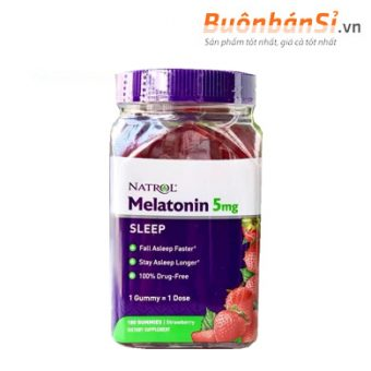 Kẹo dẻo ngủ ngon hương dâu natrol melatonin 5mg có tốt không