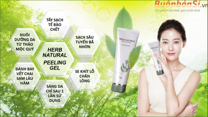 tẩy tế bào chết dr pepti herb natural peeling gel có tốt không