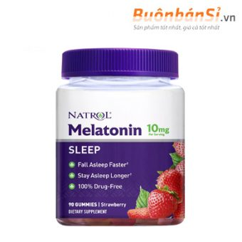 kẹo dẻo ngủ ngon hương dâu melatonin 10mg có tôt không