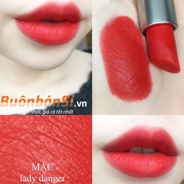 Set 3 Thỏi Son Mac Frosted Firework Sleigh All Day Màu Lady Danger