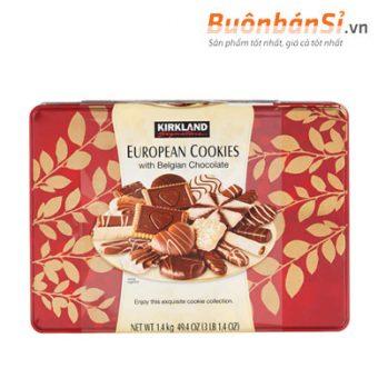 Bánh Quy Socola Kirkland Signature European Cookies With Belgian Chocolate Mỹ