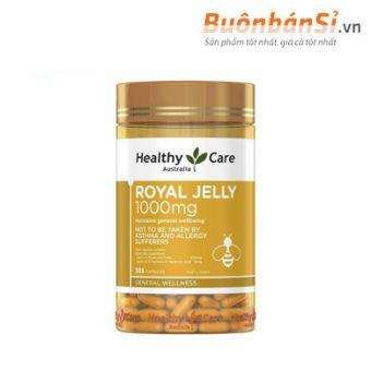 Viên Uống Sữa Ong Chúa Healthy Care Royal Jelly 1000mg 365 Viên Australia