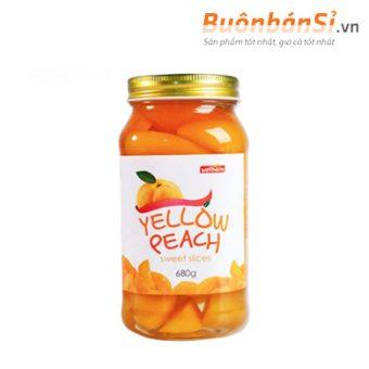 đào ngâm yellow peach sweet slices có tốt không
