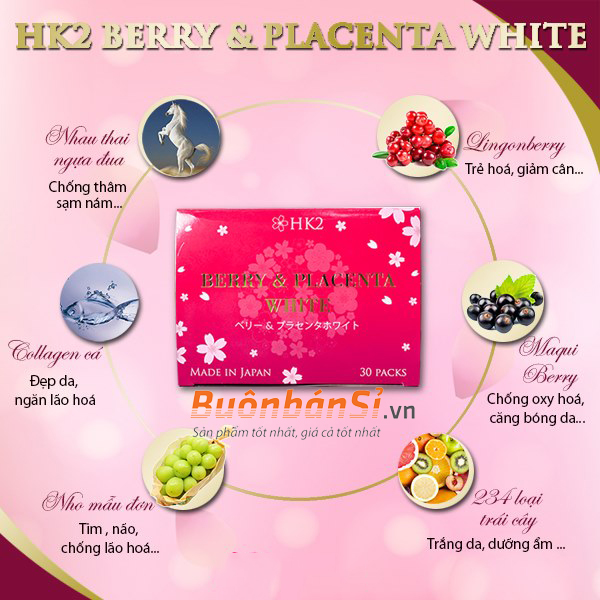 hk2 berry & placenta white có tốt không