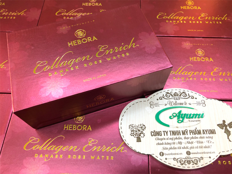 nước uống đẹp da hebora collagen enrich damask rose water 2021 có tốt không