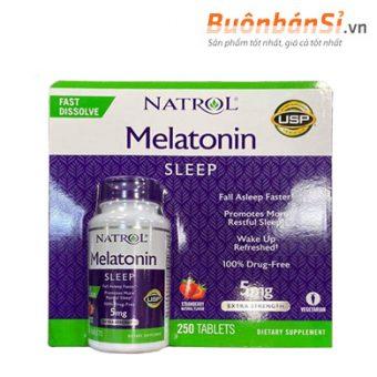 kẹo ngậm natrol melatonin sleep 5mg 250 viên mỹ có tốt không