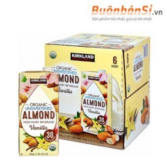 sữa hạnh nhân không đường kirkland organic unsweetened almond milk mua ở đâu