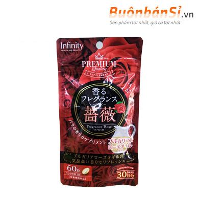 viên uống thơm cơ thể premium infinity fragrance rose 60v mua ở đâu